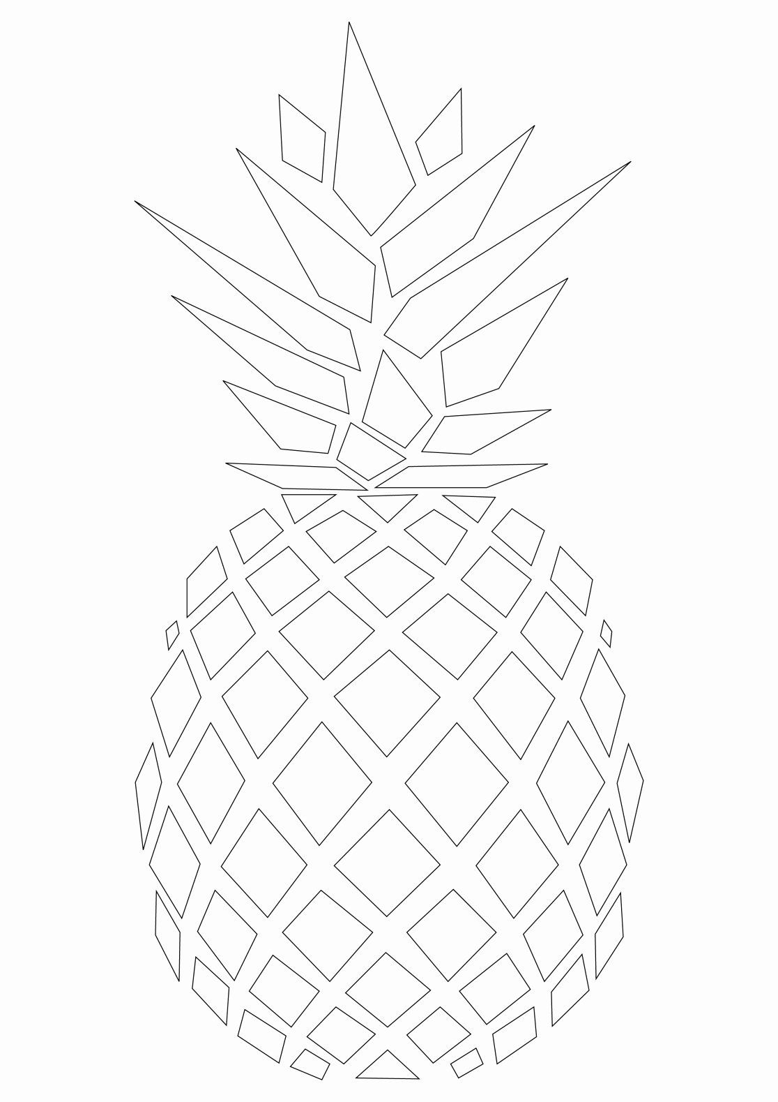 Fruits Coloring Sheets Free Printable In 2020 | Pineapple