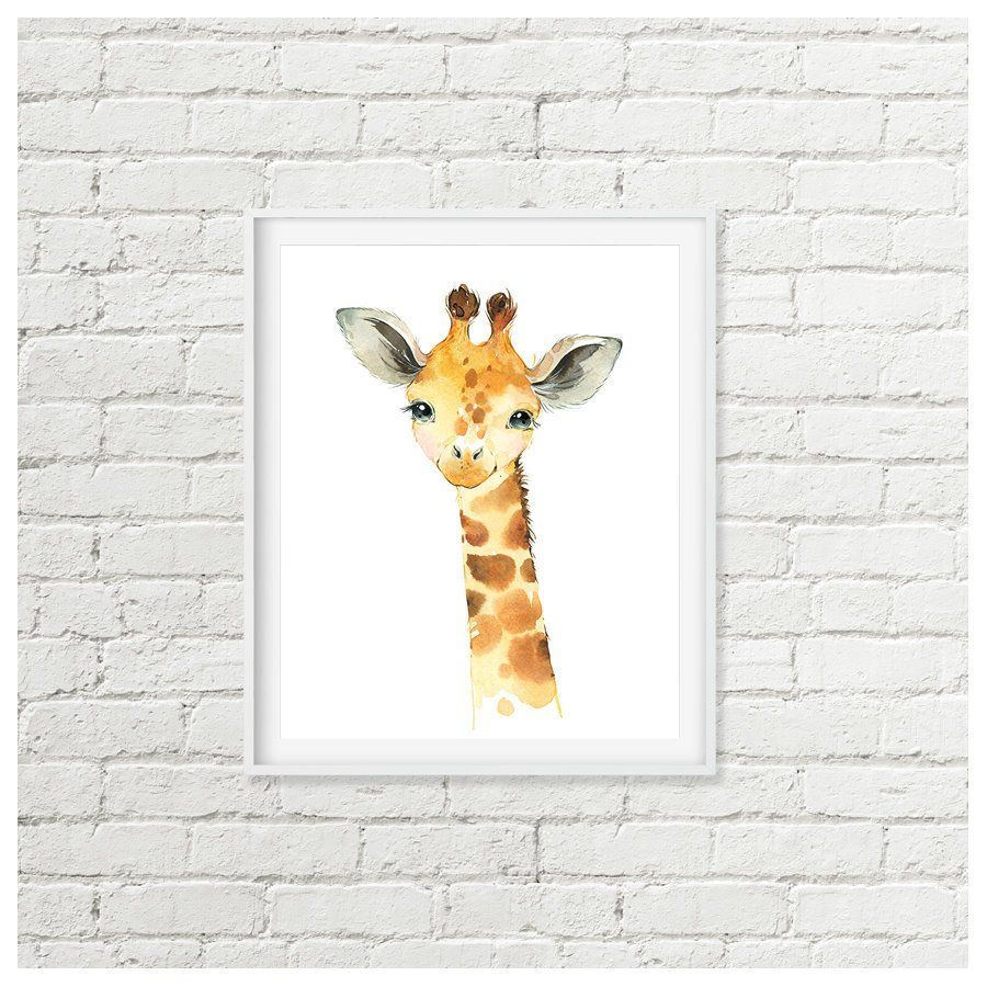 Giraffe Nursery Art, Africa Jungle Animal Giraffe Printable