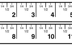 Printable Ruler Showing Eighths
