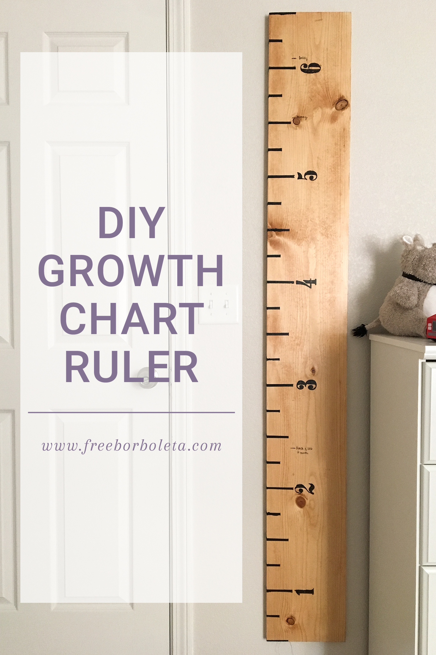 Growth Chart Ruler Diy • 259 West