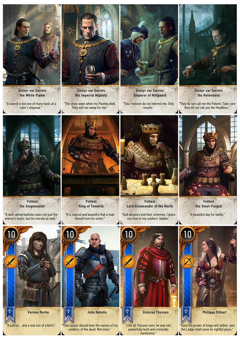 Gwent Cards In Printable A4 Sheets | Cards, The Witcher