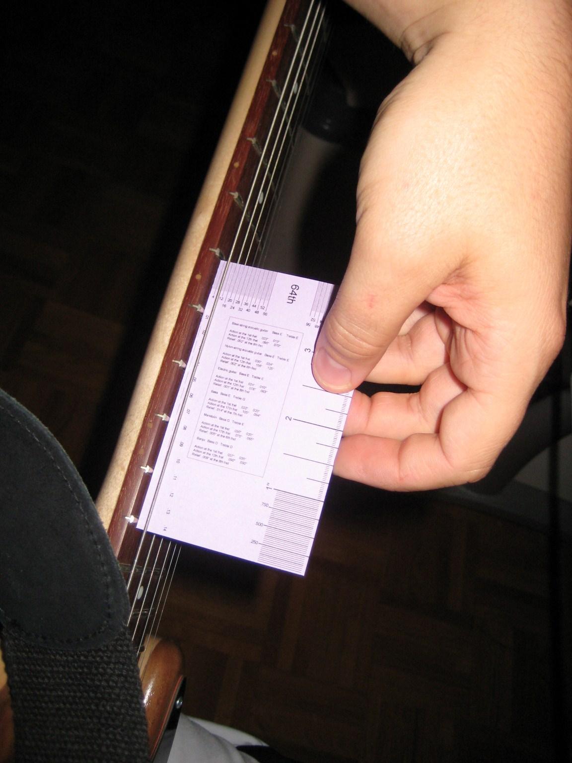 Homemade String Action Gauge For Guitar Setup.   Leaky