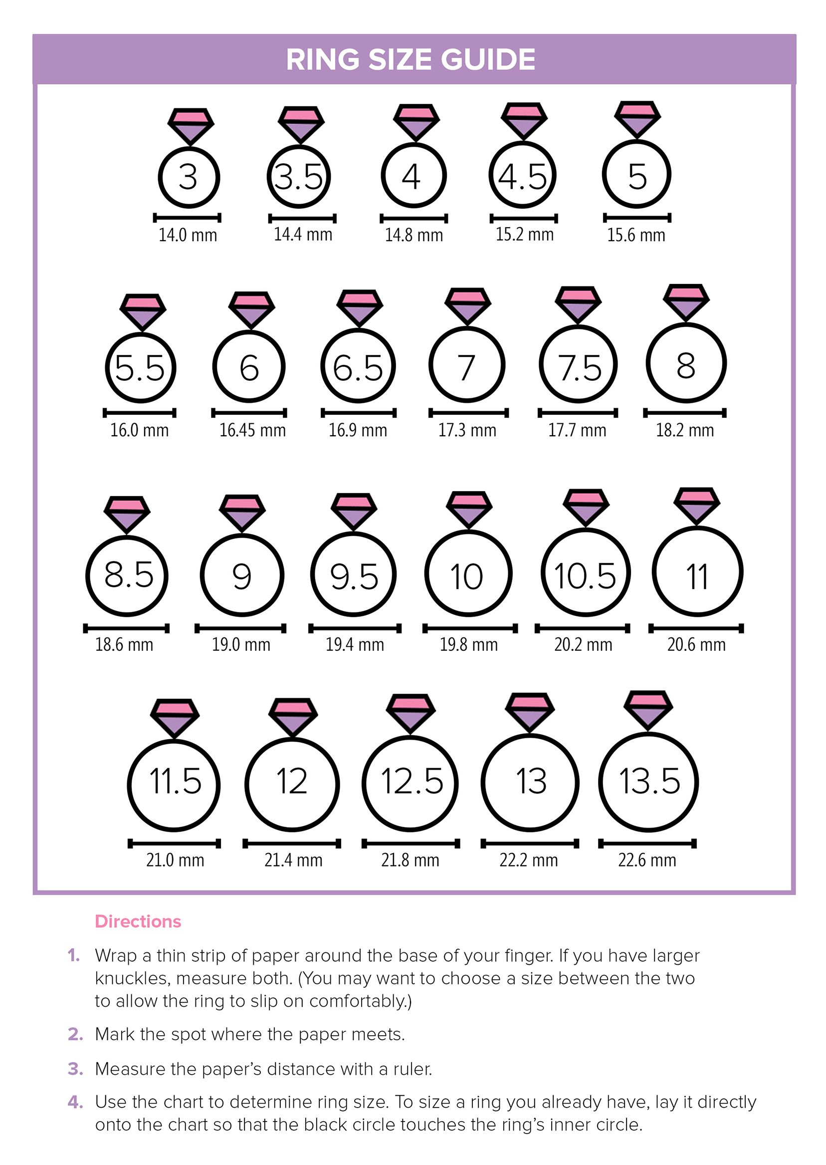 How To Find Your Ring Size At Home Using This Handy Chart