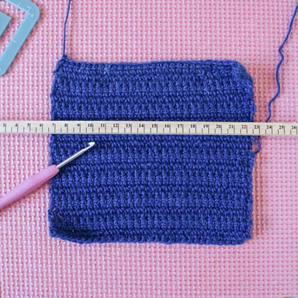 How To Make And Measure A Crochet Gauge Swatch - Dora Does