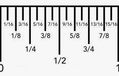 Printable Ruler Showing Fractions