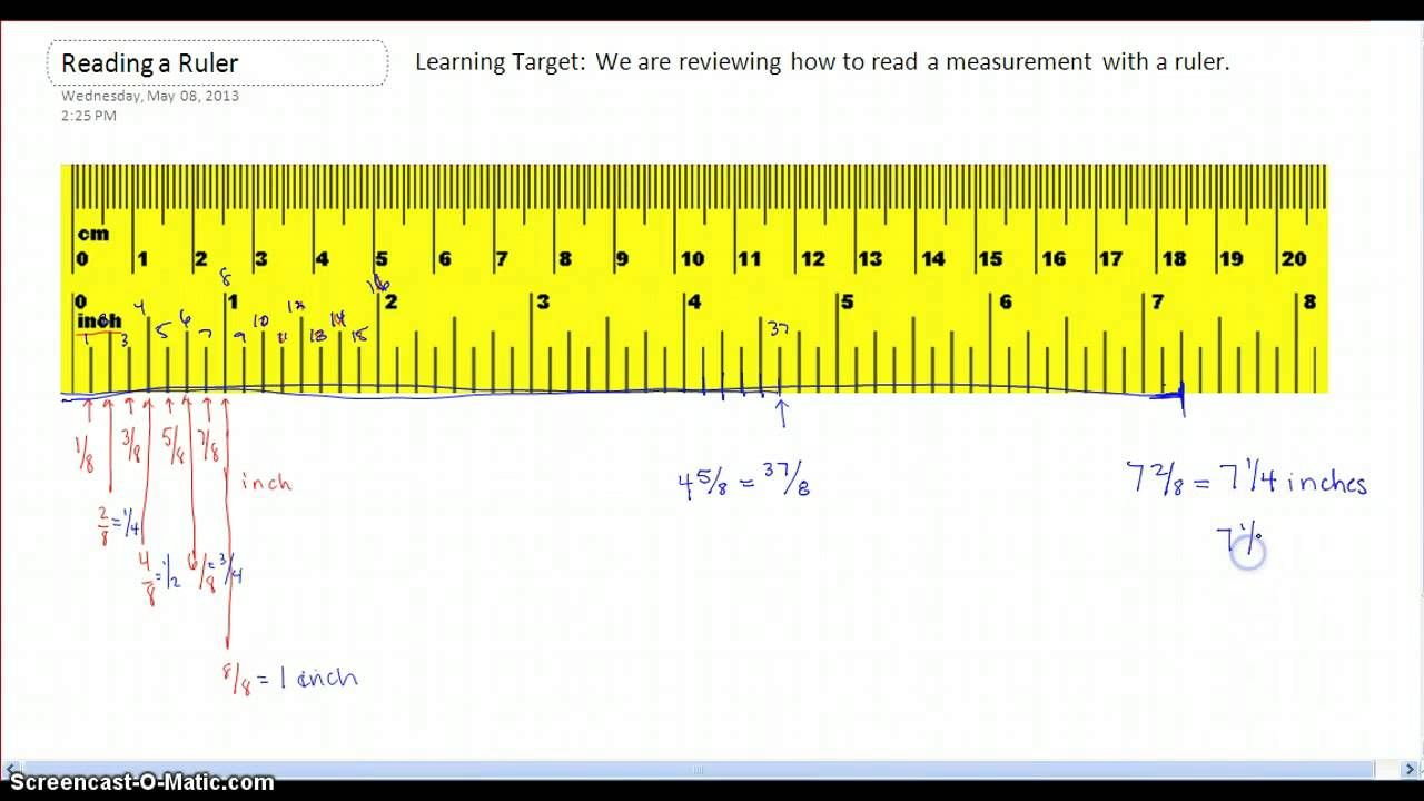 How To Read Measurements On A Ruler. | Reading, Ruler