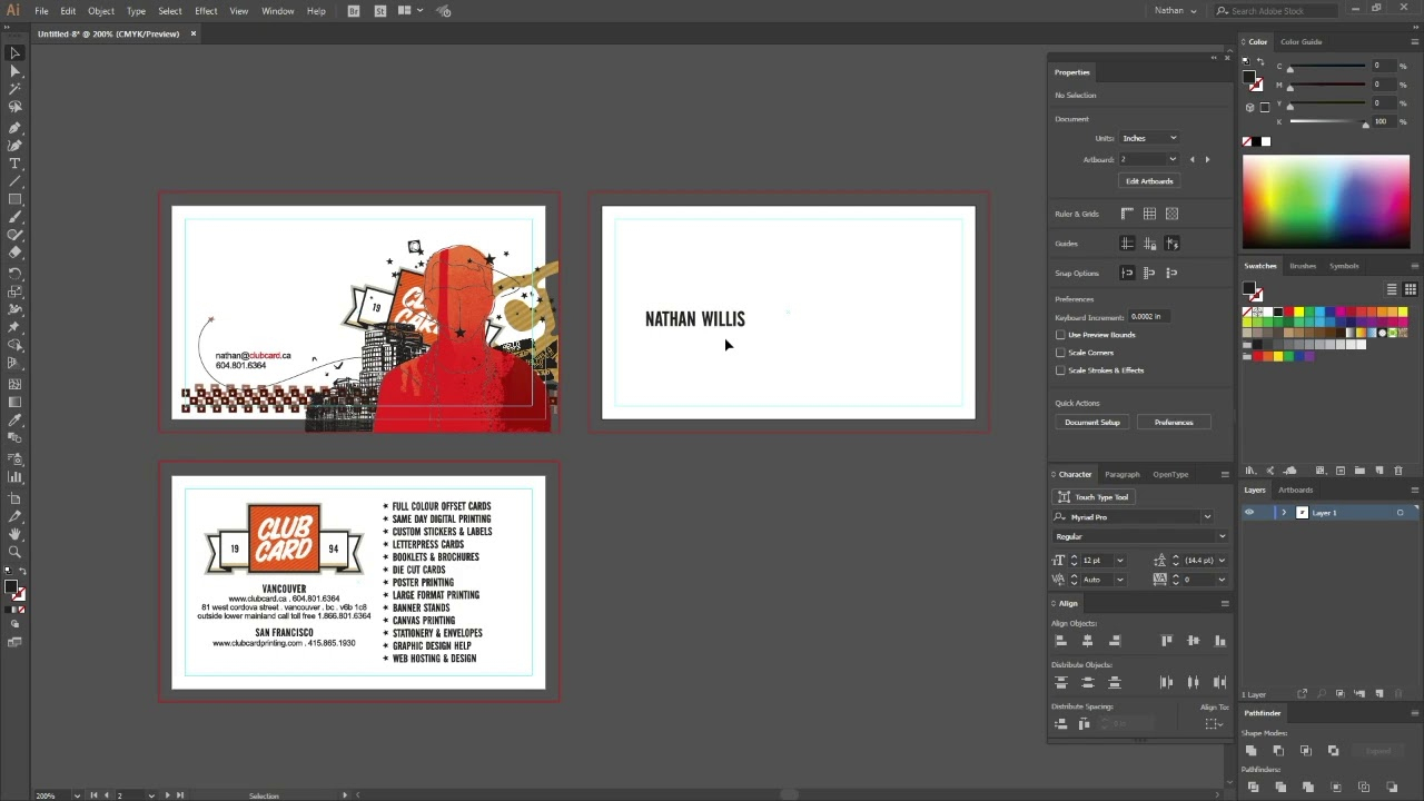 How To Set Up Files With Foil Stamping For Print In Adobe Illustrator Cc
