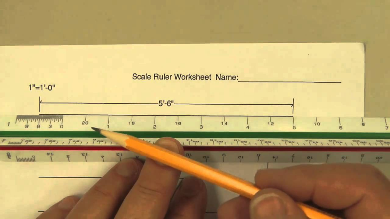 How To Use A Scale Ruler On Our Worksheet