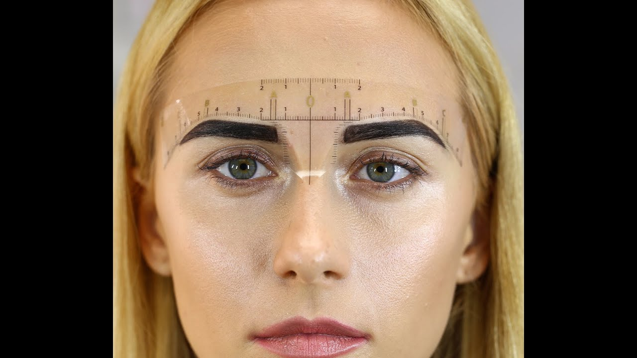 How To Use Daria's Chuprys Eyebrow Measurement Ruler