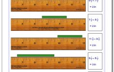 Printable Ruler With Fractions Measurements On It