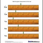 Inches Measurement Worksheets : Mark The Ruler Students Are