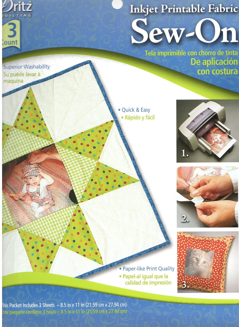 Inkjet Printable Fabric - Sew On - Paper-Like Quality