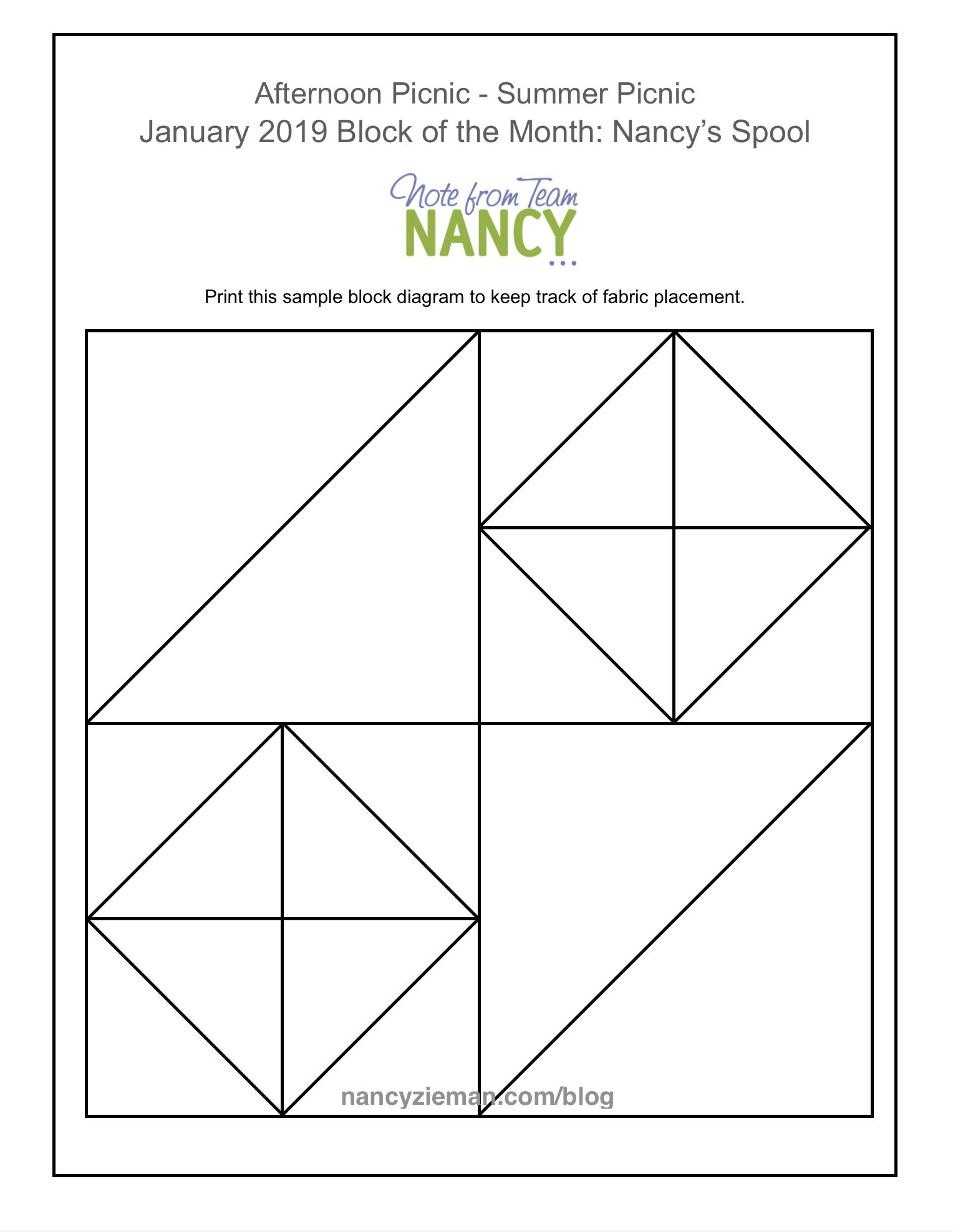 January Block Of The Month: Nancy's Spoolteam Nancy