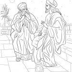 Jesus And Nicodemus Coloring Page | Free Printable Coloring