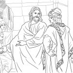 Jesus And The Rich Young Man Coloring Page | Free Printable