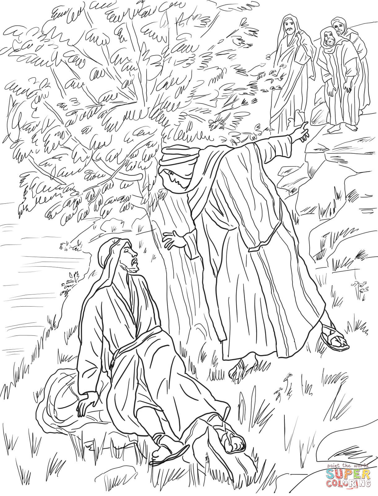 Jesus Calls Philip And Nathanael Coloring Page | Free