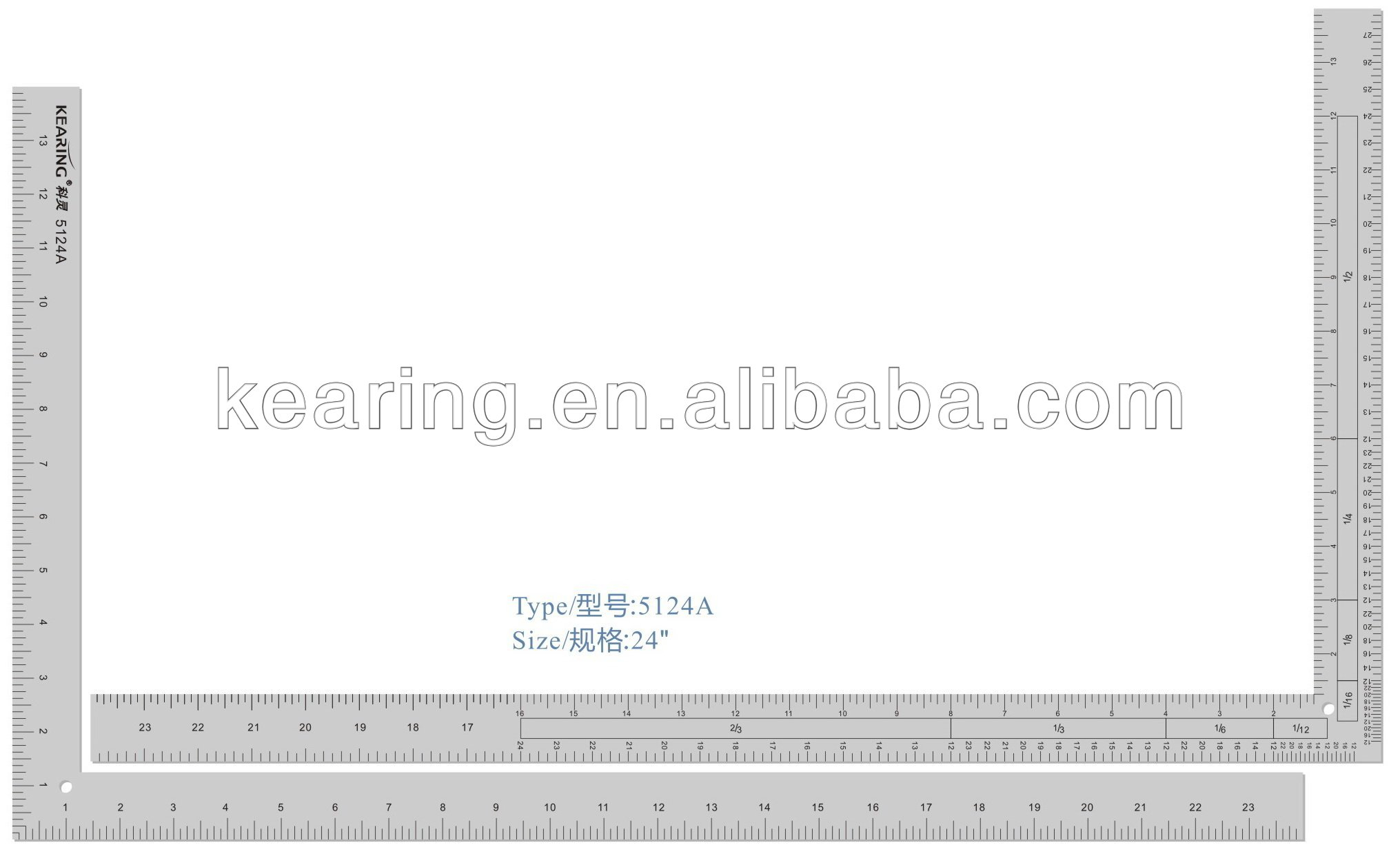 Kearing Brand,12''&24'' Length Right Angle Garment Ruler,for Fashion Design  #5124A - Buy Right Angle Garment Ruler,pattern Making Rulers,l Shape
