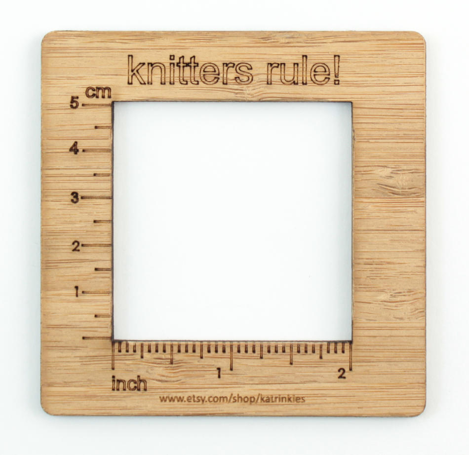 Knitters Rule! - Gauge Swatch Ruler (2 Inch Measurement)
