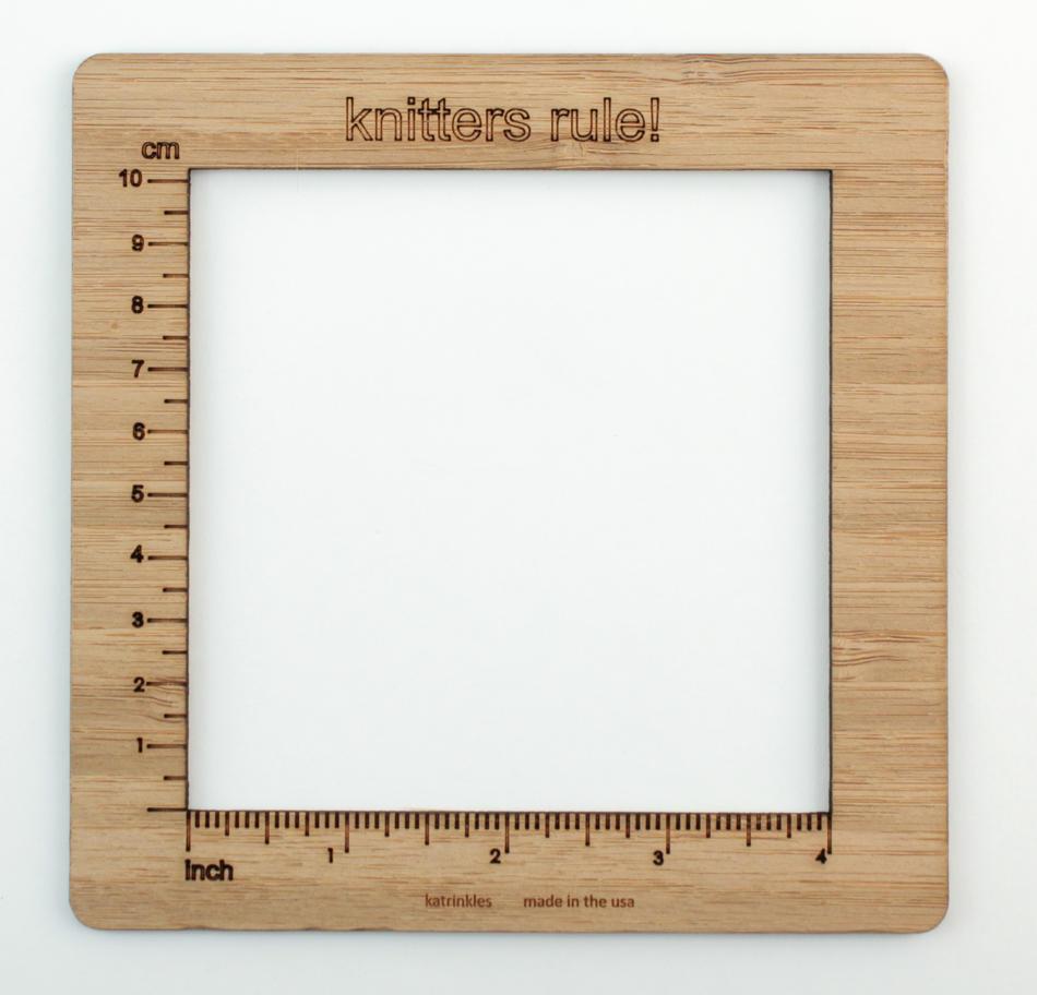 Knitters Rule! - Gauge Swatch Ruler (4 Inch Measurement)