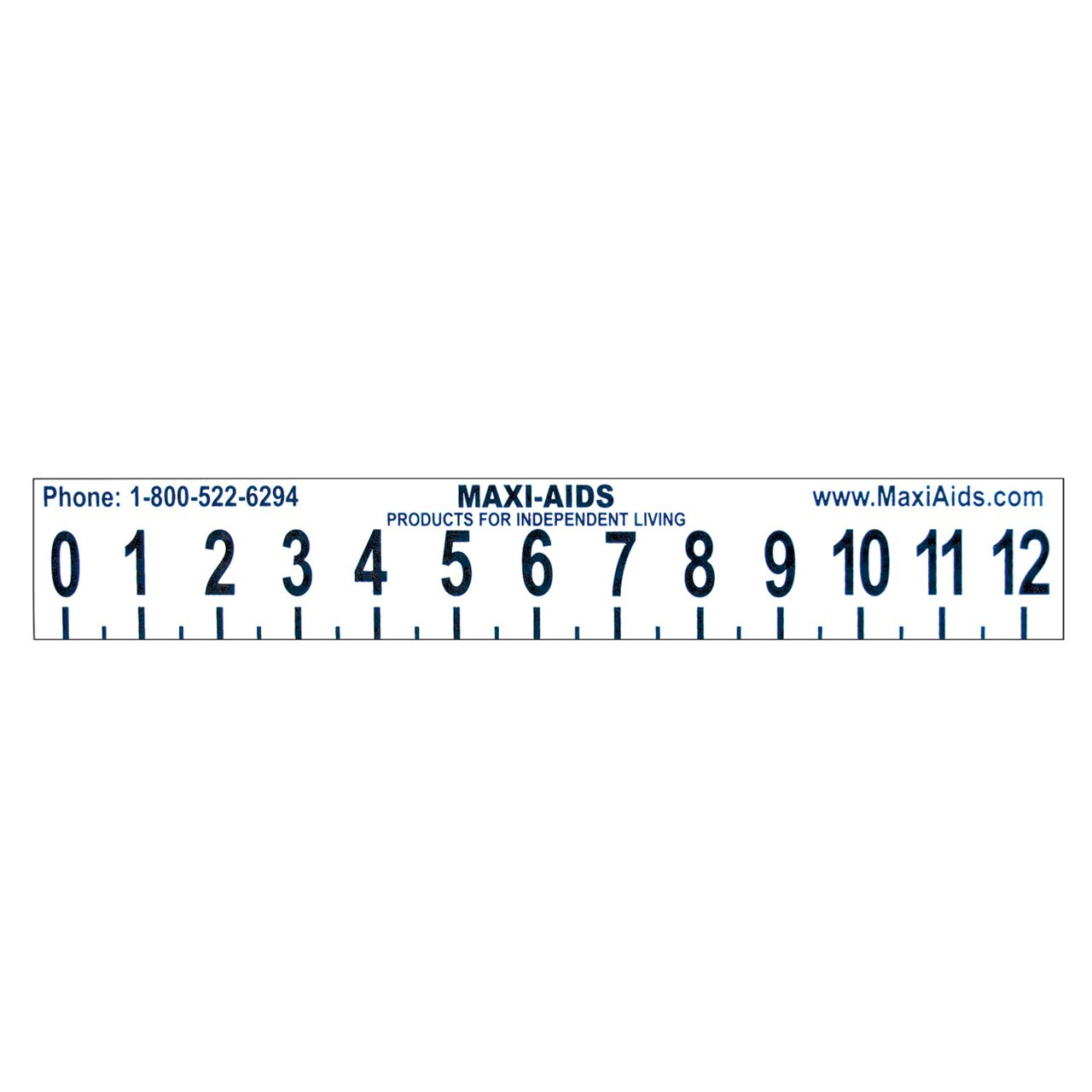 Large Print 12 Inch Ruler With Braille Illustrated Alphabet On Reverse -Not  Tactile-Educational