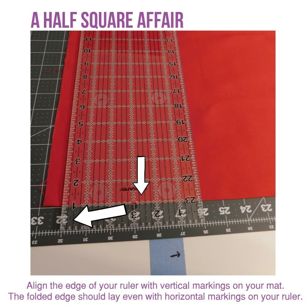 Left-Handed Cutting Guide - A Half Square Affair