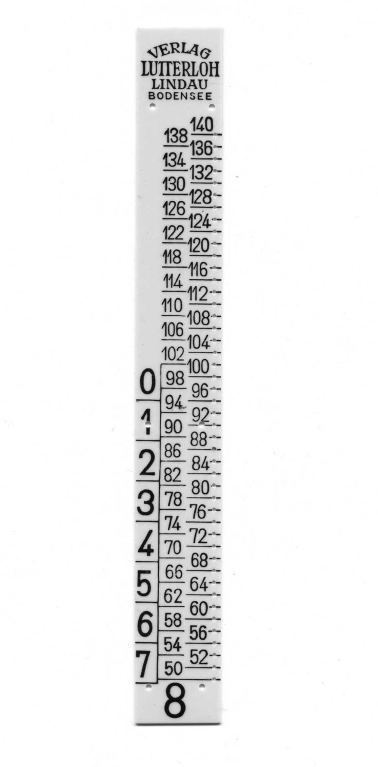 Lutterloh Ruler. Just Need This Ruler, Have The Rest Of The