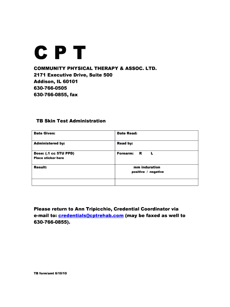 Mantoux Test Report Format - Fill Online, Printable