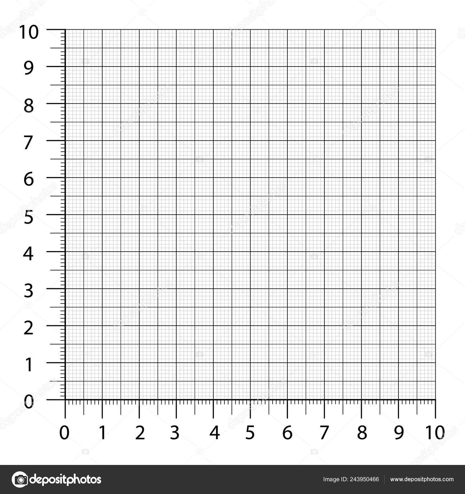 Measured Grid. Graph Plotting Grid. Corner Ruler With Sets