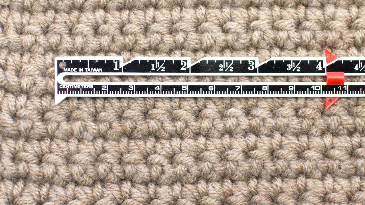 Measuring Crochet Gauge – New Stitch A Day