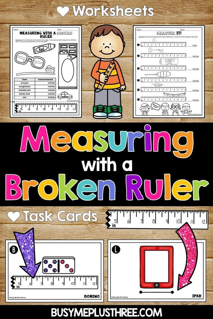 Measuring With A Broken Ruler Task Cards, Posters, And