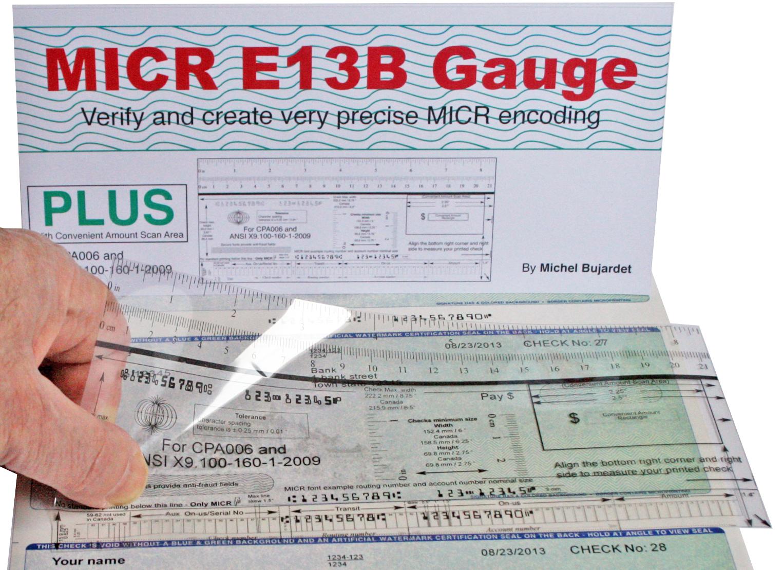 Micr Check Position Gauge