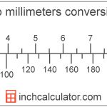 Mm To Inches Conversion (Millimeters To Inches)   Inch