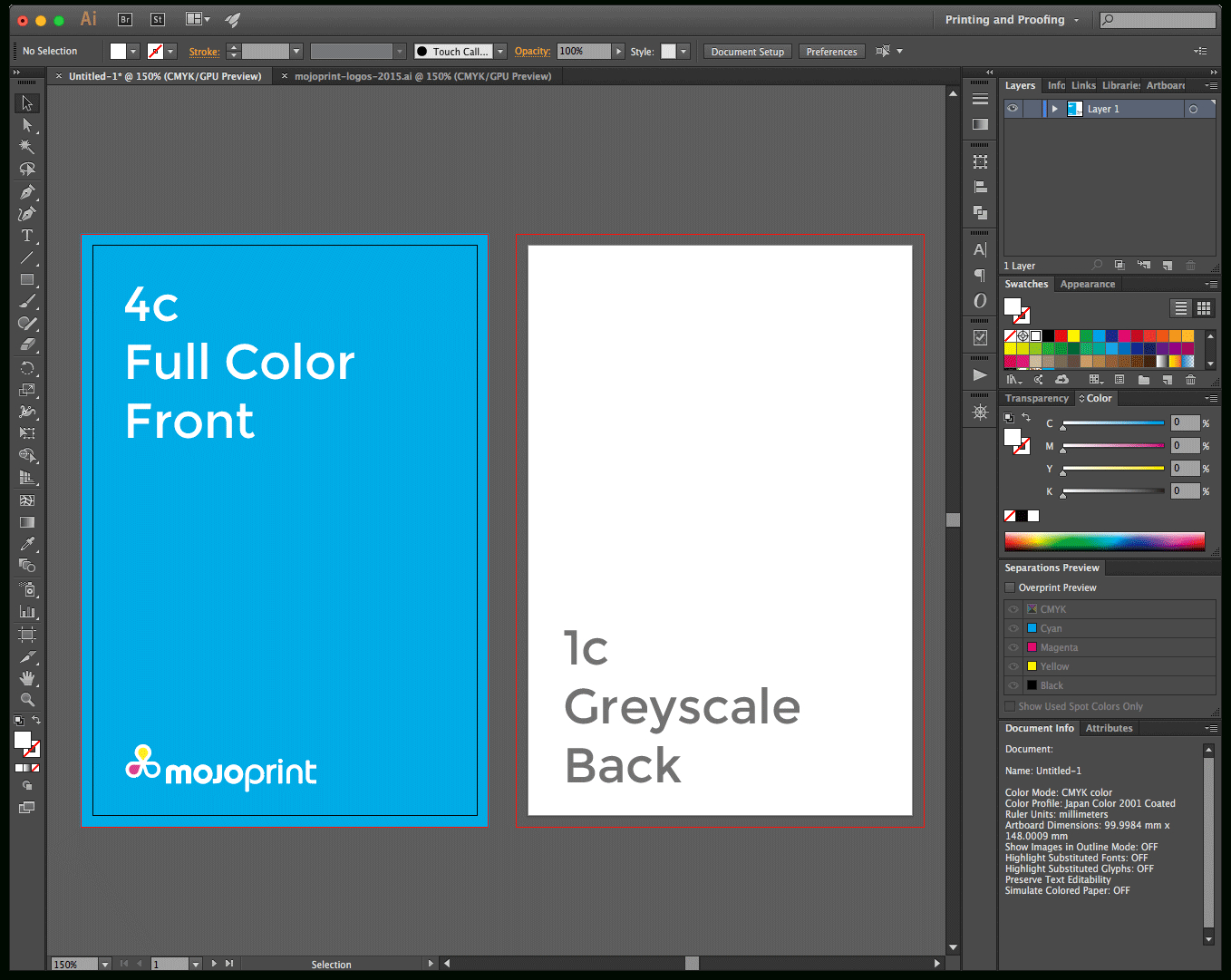Mojoprint Tutorials » Blog Archive » Setting Up Your Print
