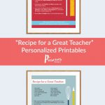 Need A Teacher Gift? These Personalized Printables Are A