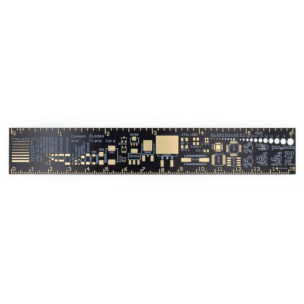 Pcb Ruler 15Cm For Electronic Engineers For Geeks Makers Fans Pcb Reference  Ruler Pcb Packaging Units V2 - 6