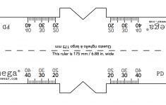 Glass Measurement Ruler Printable