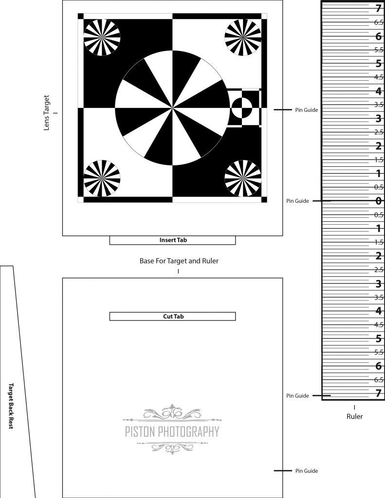 Piston Photography | Free Lens Calibration Chart