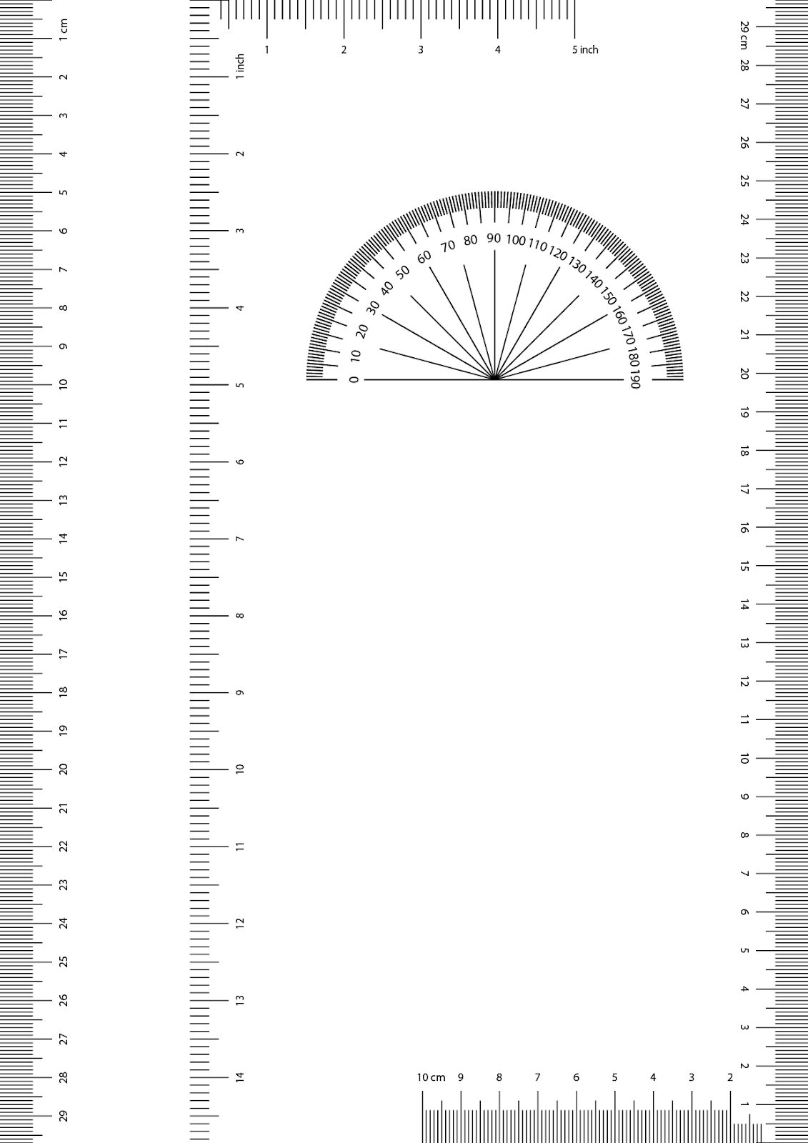 Pow London New York: A4 Printable Ruler