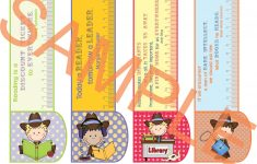Printable Bookmarks Country Girl/boy 3In1: Bookmark +Ruler +