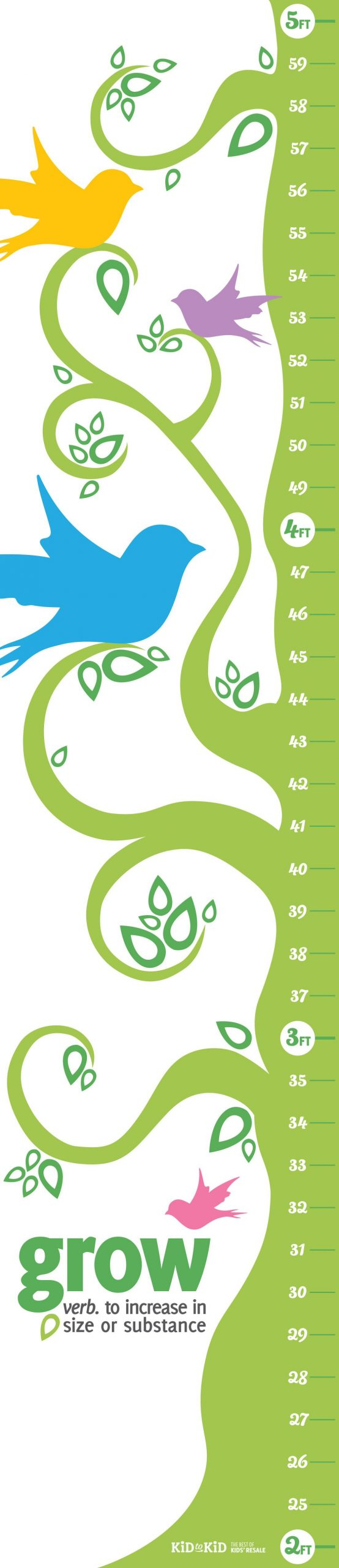 Printable Growth Chart | Kids Growth Chart, Toddler Growth
