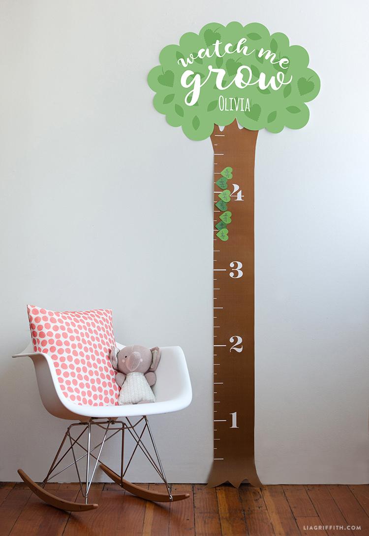 Printable Height Chart For Kids - Lia Griffith