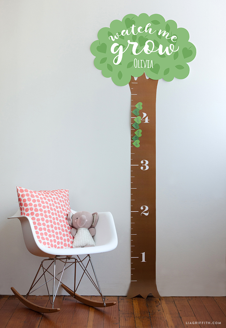 Printable Height Chart For Kids - Lia Griffith
