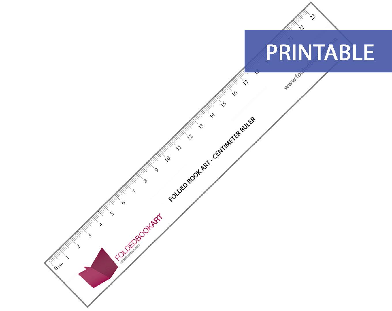 Printable Metric Ruler (In Centimeter)
