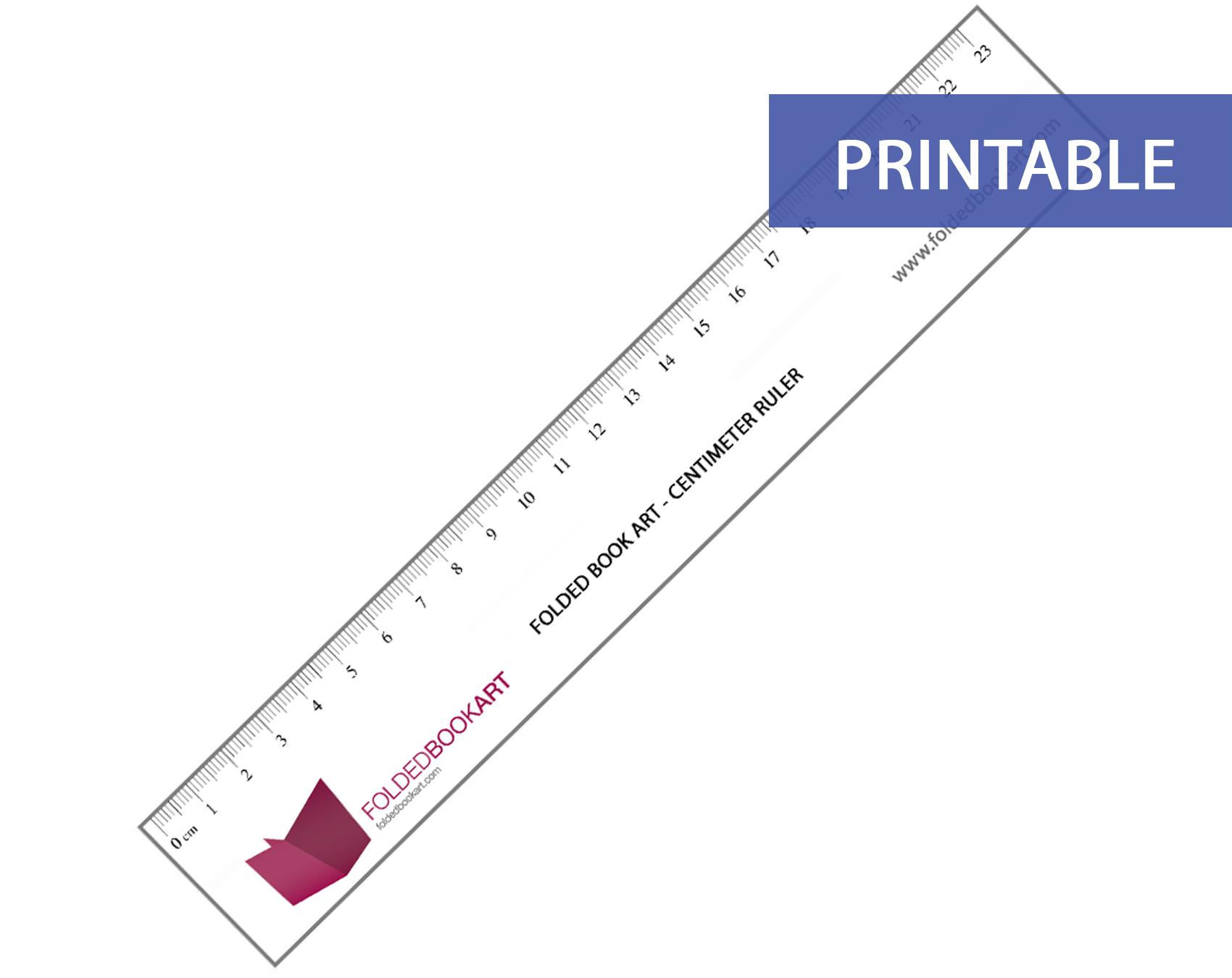 Printable Metric Ruler
