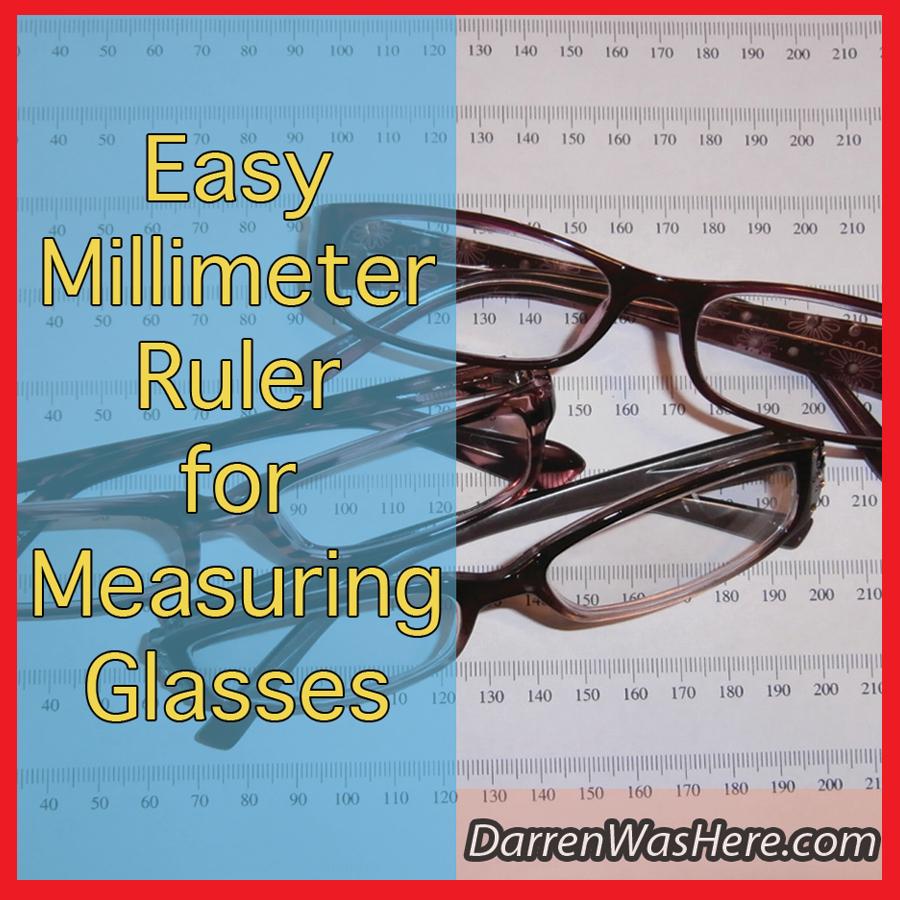 Printable Millimeter Ruler To Measure Glasses - Darrenwashere