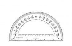 Printable Protractor – Actual Size | Cool2Bkids