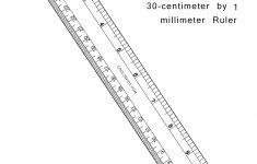 Printable Inch Centimeter Ruler