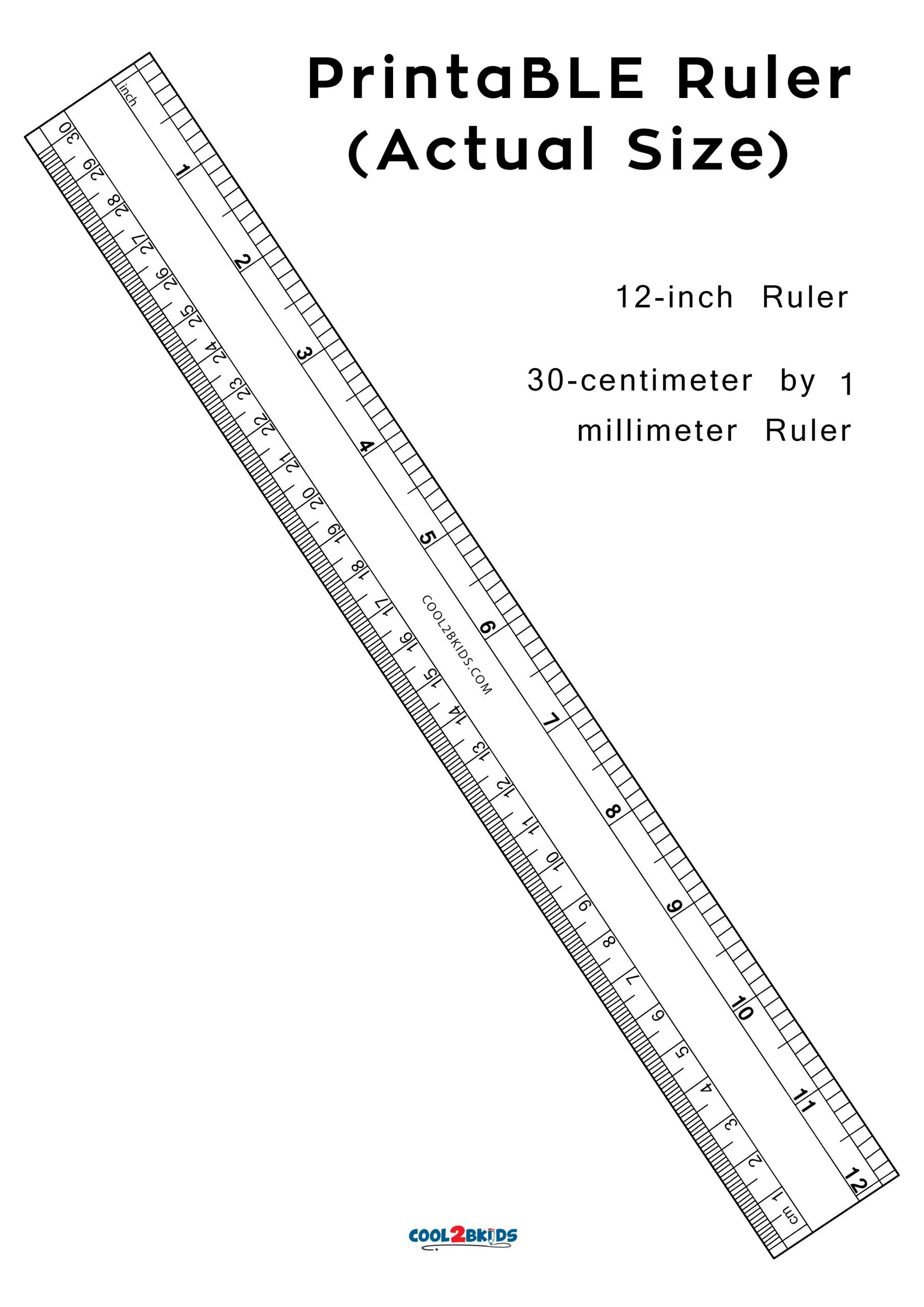 Printable Ruler: 12-Inch Actual Size   Cool2Bkids