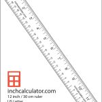"Printable Rulers   Free Downloadable 12"" Rulers   Inch"