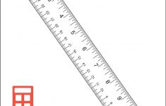 Letter Page Printable Ruler